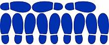 ThatVinylPlace Wandaufkleber/ Wandtattoo, Motiv Herrenschuhabdrücke, Vinyl, Dekoration für Badezimmer/ Kinderzimmer/ Auto/ Fenster/ Wand, 23 x 60 cm, in 18 Farben erhältlich azurblau