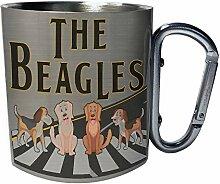 The beagles Edelstahl Karabiner Reisebecher 11oz