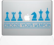 The Decal Guru 1277-MAC-13X-LB MacBook-Aufkleber