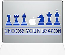 The Decal Guru Schach Waffen Macbook Aufkleber –
