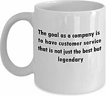 The goal as a company is to have customer service