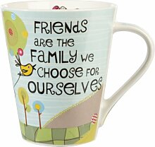 The Good Life Porzellanbecher Friends are Family