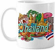 The Grand Palace Elefant Thailand Graffiti Tasse