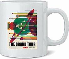 The Grand Tour NASA Space Travel Retro JPL Ceramic
