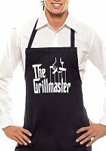 The Grillmaster - Einfarbig - Grillschürze Schwarz / Weiss