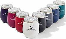 The Happy Lush Edelstahl-Weinglas mit Deckel: