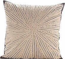 The HomeCentric Elfenbein Kissenbezüge 60 x 60 cm, Baumwolle Kissenbezug, handgemachte Dekokissenbezug Elfenbein - Ivory Loom