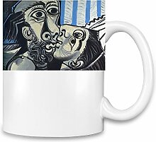 The Kiss Picasso Painting Kaffee Becher