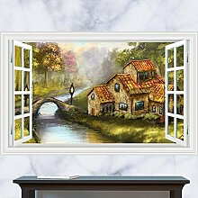 The Living Room Wall Stickers_3D Three-Dimensional