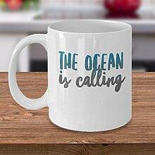 The Ocean is Calling Ocean Kaffeetasse,