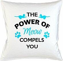 The Power Of Meow Compels You Schlafsofa Home Décor Kissen Kissenbezug Fall Weiß