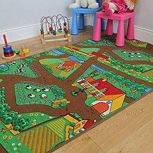 The Rug House Kinder-Spielteppich Bauernhof Tiere
