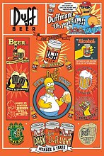 The Simpsons - Duff - Filmposter Kino Movie