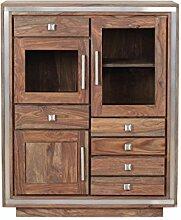 The Wood Times Highboard Sheva, FSC100%, 3 Türen,