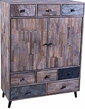 The Wood Times Kommode Schrank Massiv Vintage Look