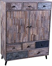 The Wood Times Kommode Schrank Massiv Vintage Look