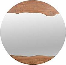 The Wood Times Wandspiegel rund 'Jamgal'