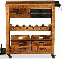 The Wood Times Weinbar-Trolley 'Bronx',