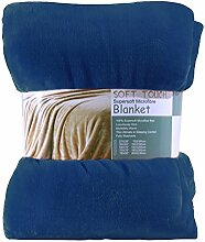 THEE Flanell Microfaser Decke Tagesdecke Kuscheldecke Wohndecke Sofadecke Alle Jahreszeit für Bett Sofa Couch