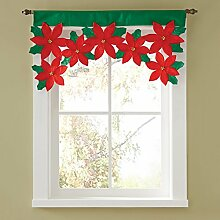 THEE Weihnachten Blume Vorhang Fenster Dekoration