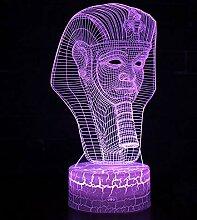 Thema 3D Lampe LED Nachtlicht 7 Farbwechsel Touch