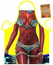 Themen/Motiv-Schürze/Grill/Kochschürze Rubrik Brasilien/sexy Motive: Brazil Girl - Geschenkidee inkl. Spaß-Urkunde