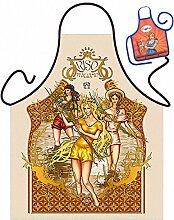 Themen-Schürze/Spaß-Grill/Kochschürze Rubrik Italien: Riso - Geschenk-Set inkl. Mini-Schürze