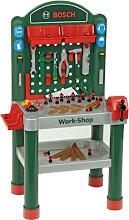 Theo Klein BOSCH Werkbank Work-Shop (Grün-Rot) [Kinderspielzeug]