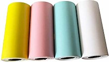 Thermal Aufkleber Druck Papier, 4 Teile/Set Bunte
