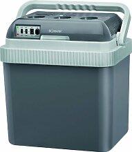 Thermo-Kühlbox 25 Liter Warmehaltebox Kühlfunktion Heizfunktion (12 V und 230 V-Anschluss, Camping, für 1,5 Liter Flaschen, Isolierbox, Wärmebehälter, EEK A+)