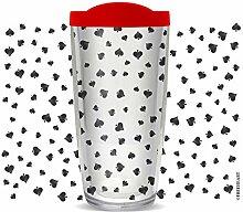 Thermo-Reisebecher mit Spielkarten-Spaten, 473 ml,
