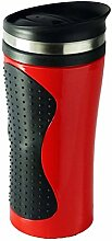 Thermobecher 400 ml Plastik Autobecher Isolierbecher Trinkbecher Kaffeebecher (Rot)