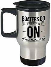 Thermobecher für unterwegs, Motiv: Boaters Do It