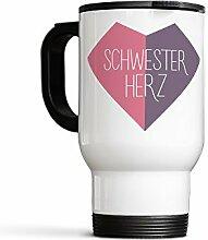 Thermobecher Kaffee to go Schwesterherz Schwester