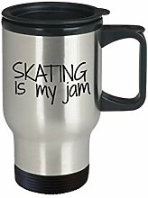 Thermobecher mit Skating Travel Mugskating is my