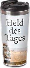 Thermobecher Trinkbecher To Go für 450ml HELD DES TAGES Geschenk für Dich (9,95 EUR / Stück)