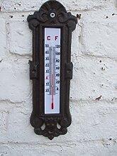 Thermometer, Gusseisen,mit Ornamentverzierungen,