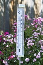 Thermometer Outside Garten LED Solar