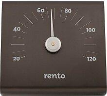 Thermometer Rento aus gebürstetem Aluminium schwarz für Sauna