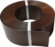 Thermoplast® SICHTSCHUTZSTREIFEN 9,5cm x 52m = 4,94m2, Braun, 5 JAHRE Garantie