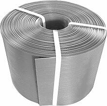 Thermoplast® ZAUNSICHTSCHUTZSTREIFEN, Sichtschutzblende, 19cm x 26m = 4,94m2, Grau, 5 JAHRE Garantie
