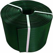 Thermoplast® ZAUNSICHTSCHUTZSTREIFEN, Sichtschutzblende, 19cm x 26m = 4,94m2, Grün, 5 JAHRE Garantie