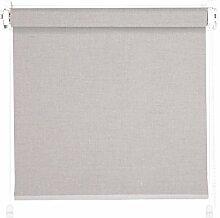 THERMOROLLO Verdunkelungsrollo Klemmifx ohne Bohren Klemmrollo Easyfix Fenster 65 x 215 cm granit / silber