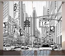 Thermovorhang New York mit Zwickelfalte, blickdicht
