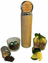 TheWolff Trinkflasche Bambus, Trinkflasche