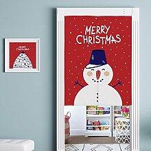 Thick Cartoon Stoff Türvorhang, Baumwolle Leinen Halbe Tür Vorhang Dekorative Partition - Für Hauseingang Dekoration, Schlafzimmer, Wohnzimmer, Zimmer, Küche (5 Stile zur Verfügung) , style 2 , 80x90cm