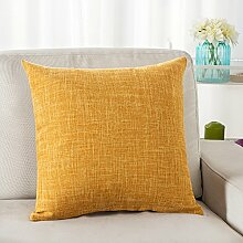 Thick Cotton Pillow Cushion,Sofa Seat Chair Waist Pillow,Bed Pillow-D 45x45cm(18x18inch)VersionA