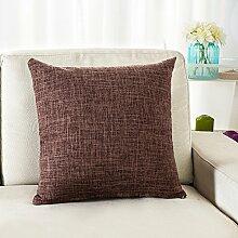 Thick Cotton Pillow Cushion,Sofa Seat Chair Waist Pillow,Bed Pillow-J 45x45cm(18x18inch)VersionB
