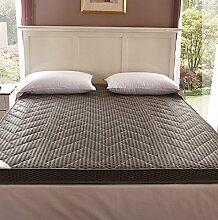Thick dünne Bambusholzkohle faltbaren Matratze Matratze Matratze auf Tatami Schlaf (0.9m*2.0m, Grau 8 cm)