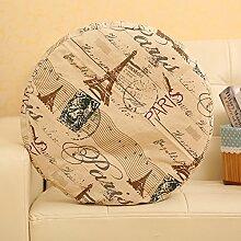 Thicker cushion/circular cushion/segeltuch stuhl kissen-A Durchmesser45cm(18inch)